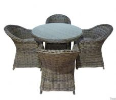 Beer Aluminium Rattan Weave Dining Set